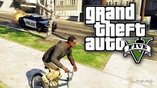 GTA 5 CHALLENGE - 5 STARS ON A BMX BIKE! (GTA V Online)