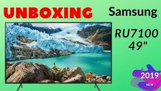 "How To Unboxing | Samsung RU7100 49"" UHD 4K LED Smart TV [Bangla 2019"