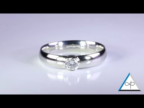 Diamond Rings Set in Platinum for Men – Flat band and Ladies Court Band