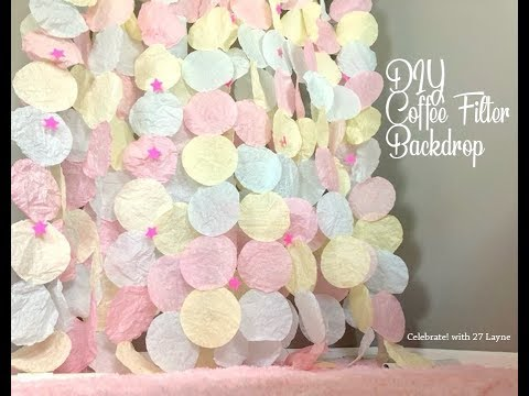 How to make a beautiful DIY Coffee Filter Backdrop | Background perfect for weddings and parties