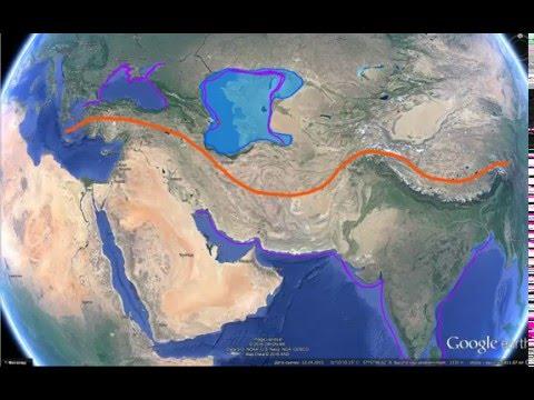 Каспийское море. Последствия землетрясений.