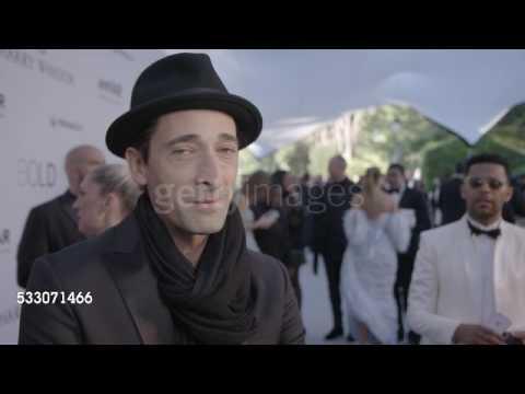Adrien Brody at amfAR - Interview