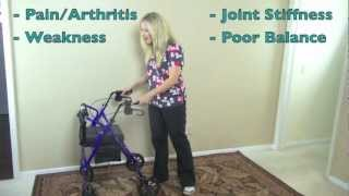 Mobility expert review of 4 wheeled walker rollator