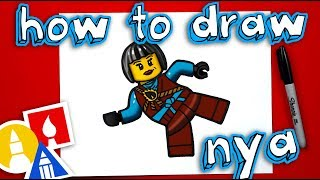 How To Draw Nya From Ninjago