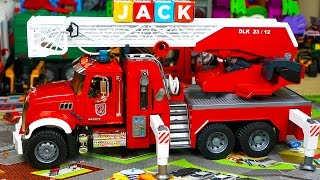 Bruder Fire Truck Mega Surprise Toy Unboxing and Review: Kid Playing with Toys