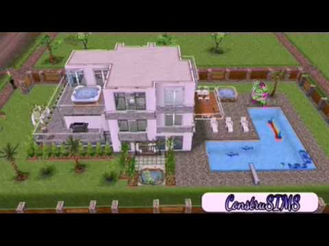 Casa moderna especial 300 inscritos the sims freeplay for Casa de diseno sims freeplay
