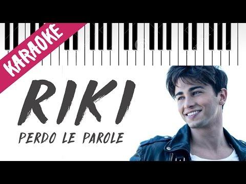 Riccardo Marcuzzo (RIKI) | Perdo Le Parole | AMICI 16 | Piano Karaoke con Testo