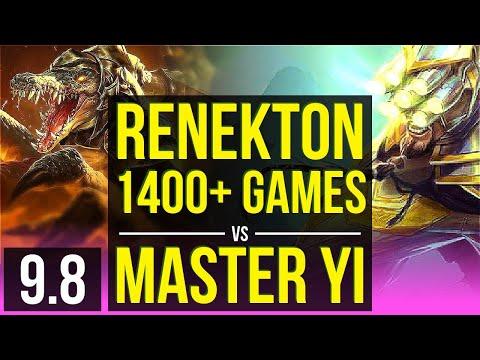 Carry Your Team As RENEKTON Vs MASTER YI (MID) | 4 Early Solo Kills | Korea Grandmaster | V9.8