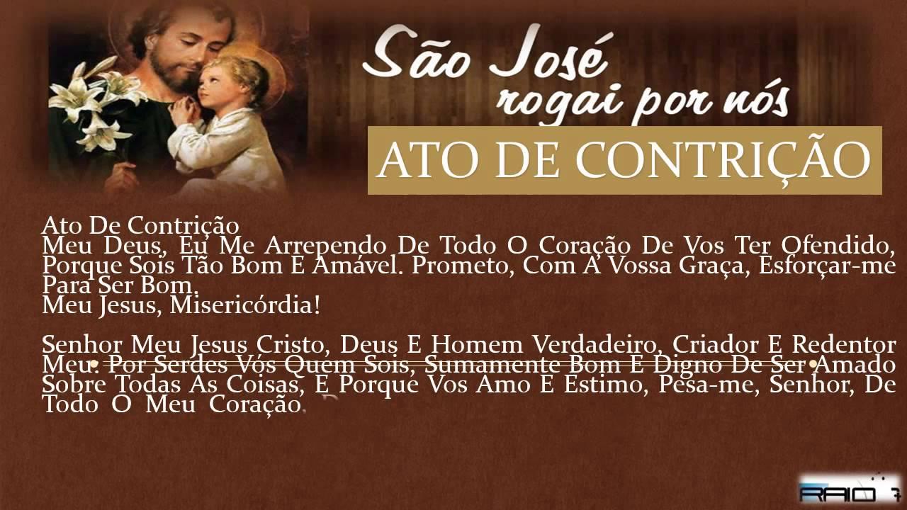 Populares ORAÇÕES SÃO JOSE - ATO DE CONTRIÇÃO theraio7 - YouTube EB29