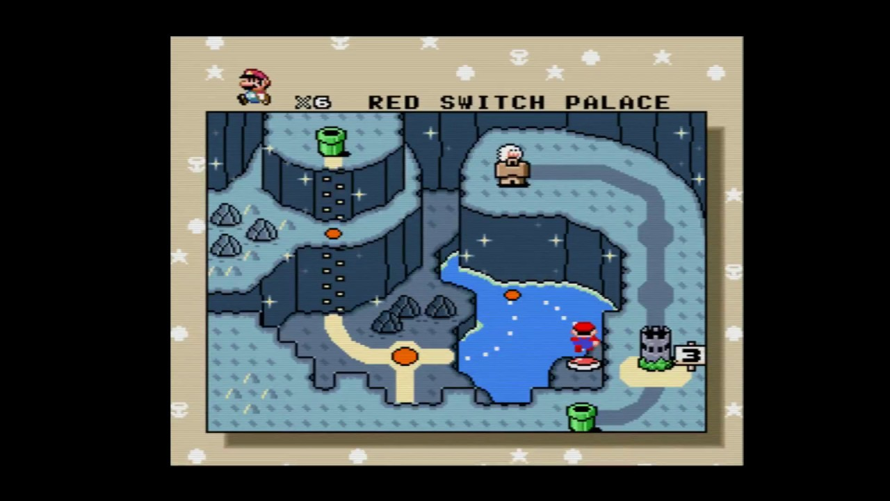 Super Mario World 03 Vanilla Dome Ghost House Red Switch Palace