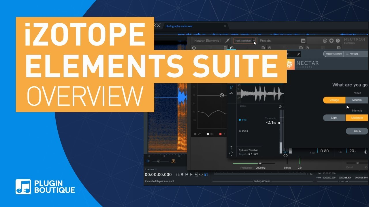 iZotope Elements Suite | RX, Ozone, Neutron, Nectar