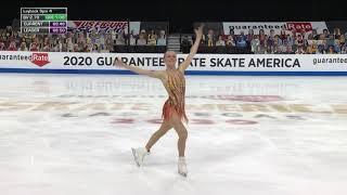 Американская фигуристка Мэрайя Белл Этап Гран при Скейт Америка 2020 21 Произвольная программа