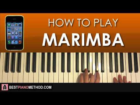 HOW TO PLAY - iPhone Ringtone - Marimba (Piano Tutorial Lesson)
