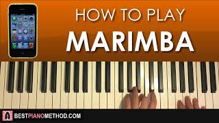 """This is a step by piano tutorial on the 1st iphone default ringtone """"marimba"""". -- 🎹 learn amosdoll's methods (free 4-part video lessons) part 1: h..."""