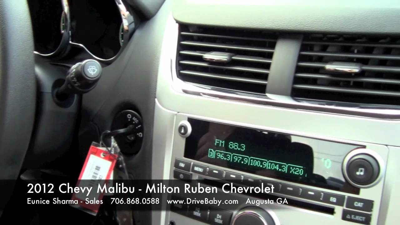 2012 Chevy Malibu Walkaround And Test Drive Milton Ruben Chevrolet