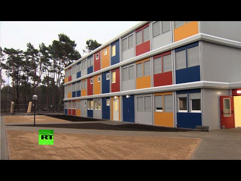 В Германии беженцев размещают в специальных «контейнерных» городках