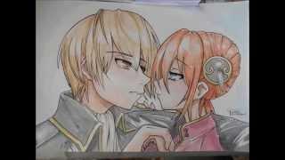 Gintama - SpeedPainting - Otsu...**... Sougo&Kagura + bonus - Watercolor