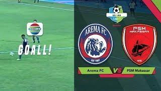 Goal Thiago Selamatkan Arema FC (1) - PSM Makassar (1)   Gojek Liga 1 Bersama Bukalapak