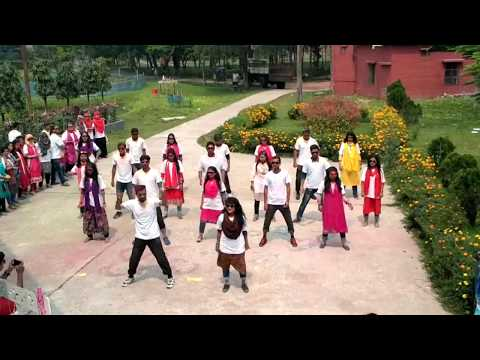 Rag Day flash mob  Fisheries 45 batch at Bangladesh Agricultural University,Mymensingh