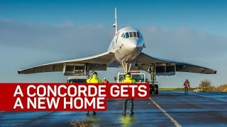 A Concorde gets a new home