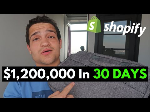 [CASE STUDY] $1.2M In 30 Days Selling Backpacks - Shopify Dropshipping Tutorial 2020 thumbnail