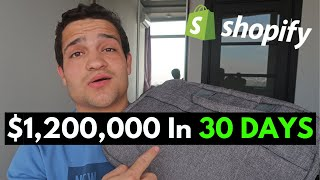 [CASE STUDY] $1.2M In 30 Days Selling Backpacks - Shopify Dropshipping Tutorial 2020