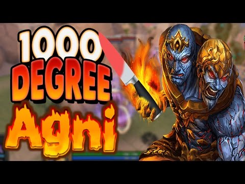 Smite: 1000 Degree Agni Vs. Randos (Agni Damage Build) - AUTO THEM DOWN!