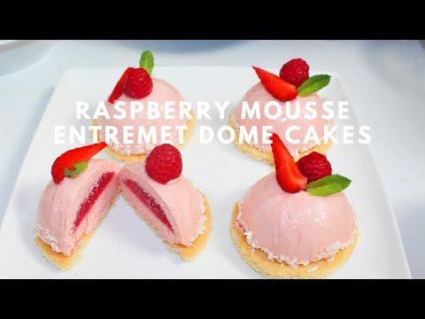 Mini Raspberry Mousse Cake