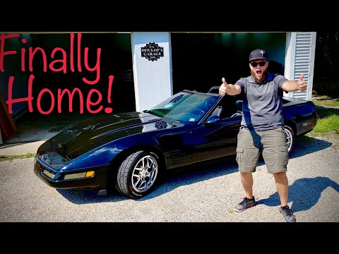 My C4 Corvette's Maiden Voyage to Her Brand NEW Home!!