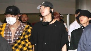 South Korean Boy Band Monsta X Arrive To Screaming Fans At LAX