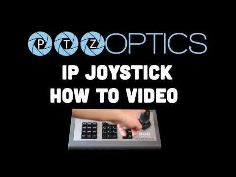 How to use the IP Joystick for PTZOptics Cameras