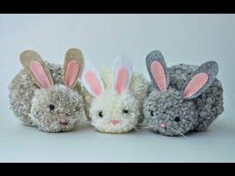 Easter Craft Diy Bunny Pom Pom Diy Easter Craft Easter Kids