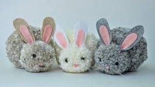 Easter Craft: DIY Bunny Pom Pom | DIY Easter Craft | Easter Kids Craft | Easter Bunny's 2018