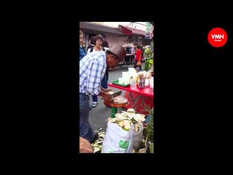 Clip gọt dừa siêu độc Clip hot 2015