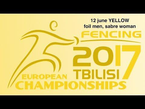 #European Champioships Tbilisi Men Foil/Woman Sabre individual YELLOW piste