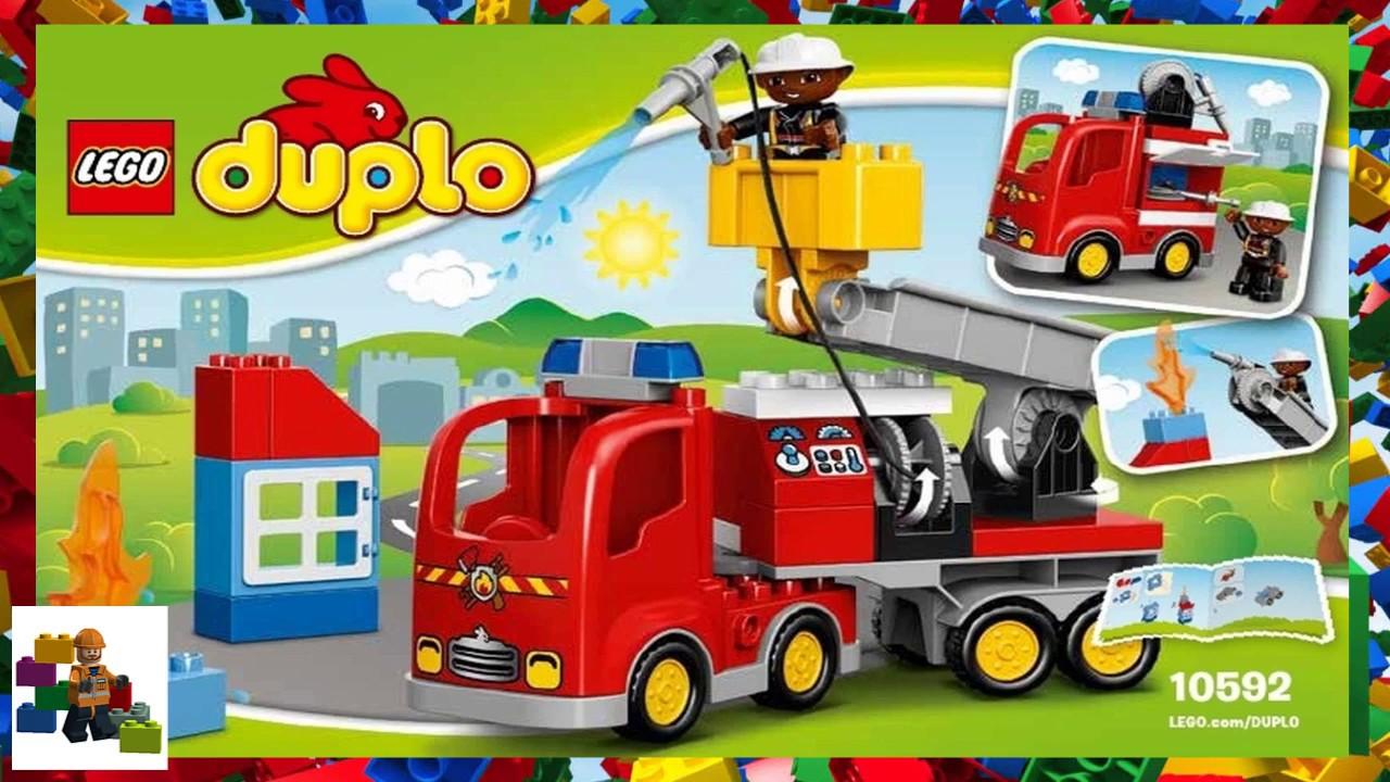 Lego Instructions Duplo Fire 10592 Fire Truck Youtube