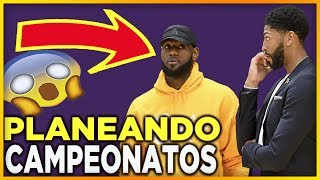LEBRON JAMES planea jugadas con Anthony Davis 🏆 | Lo Ultimo de Chris Paul | NBA Lakers en Espańol