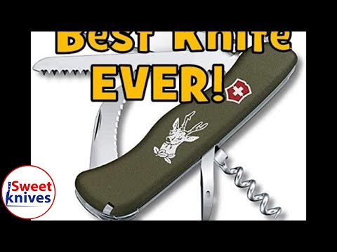 [48] Victorinox Hunter Swiss Army Knife Green Olive Best Knife Ever Review