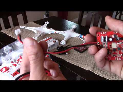 Syma X8 brushless conversion with stock RC - Step-by-step how to!