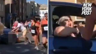 Angry woman drives straight through a marathon | New York Post