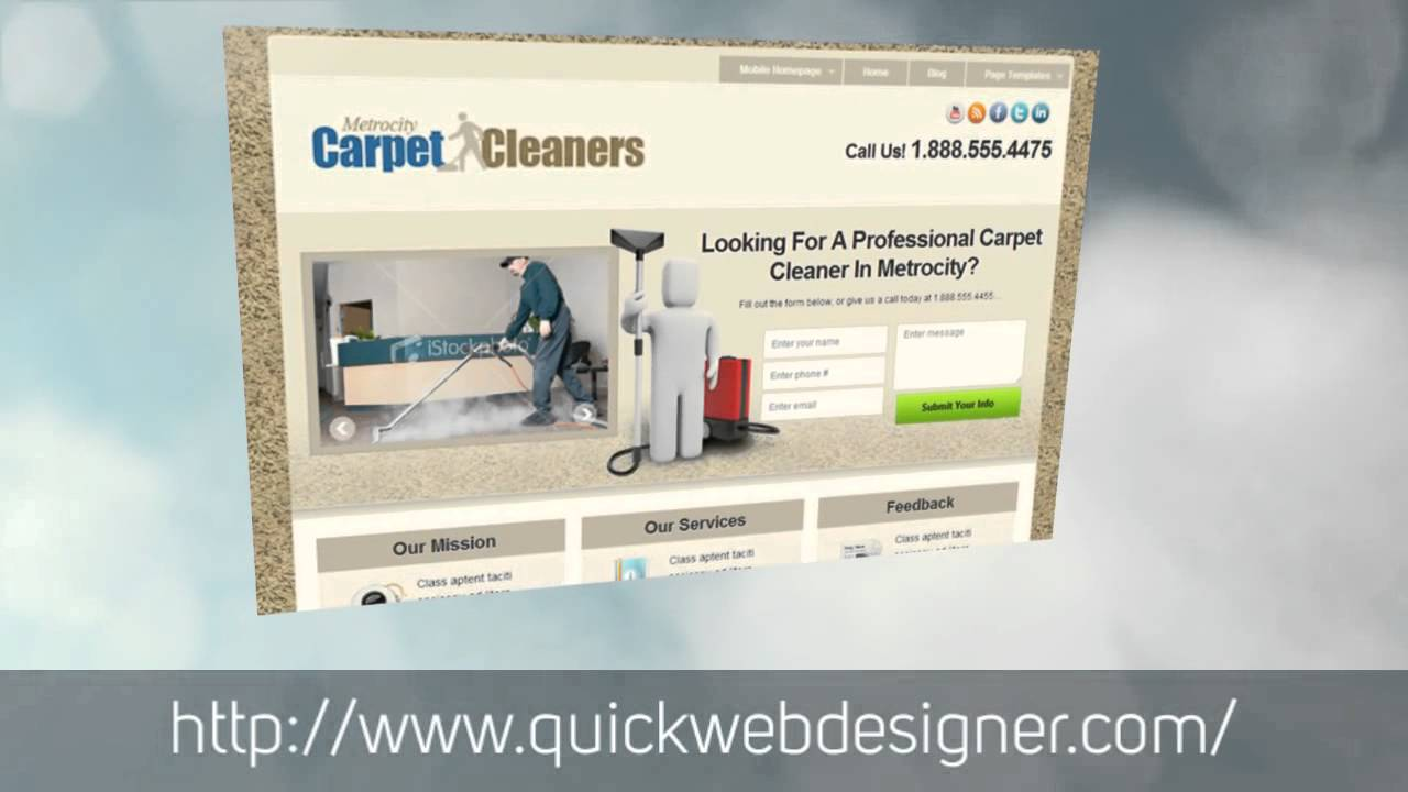 free carpet cleaning website template youtube