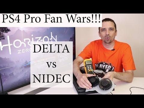 PS4 Pro Fan Noise - Delta vs Nidec Test - YouTube