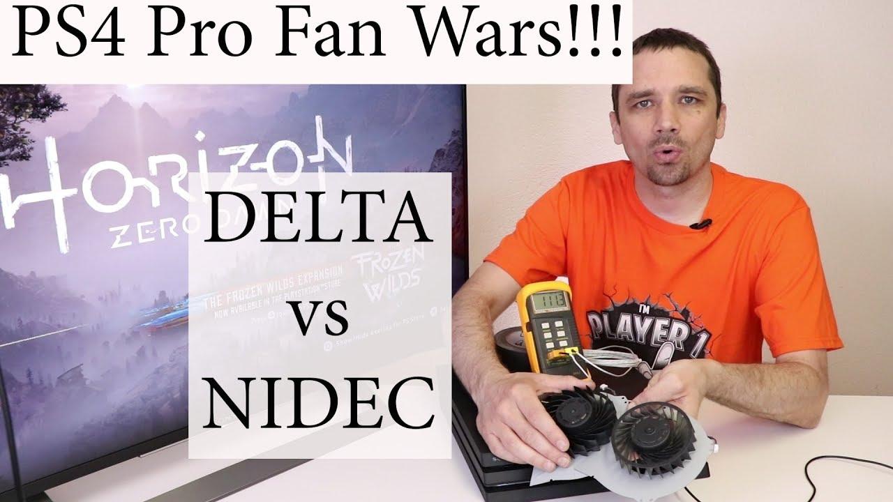 PS4 Pro Fan Noise - Delta vs Nidec Test