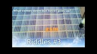 Riddles #3 - What comes down but never goes up?