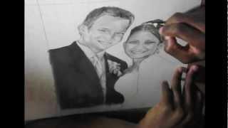 Brian Reid: Wedding photo speed drawing