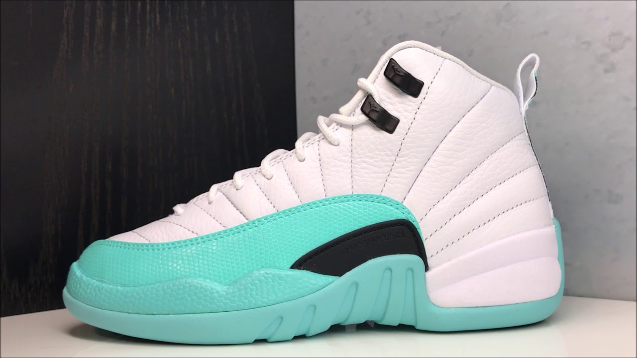 huge discount 8044e b21a2 AIR JORDAN 12 LIGHT AQUA RETRO SNEAKER REVIEW
