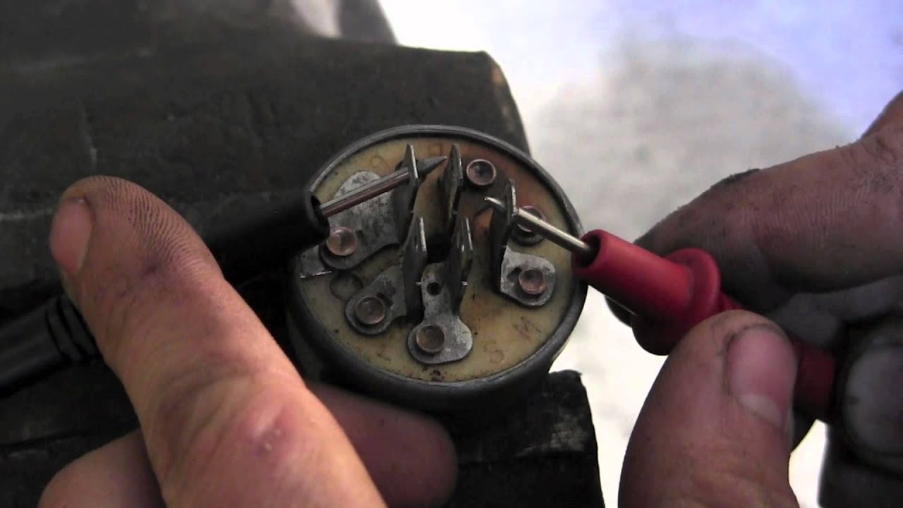 How to test lawn mower key switch  YouTube