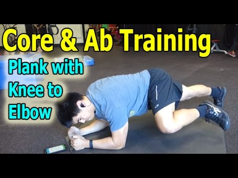 Core Exercises for Athletes: Plank with Knee to Elbow