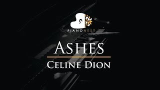 Celine Dion - Ashes - Piano Karaoke / Sing Along / Cover with Lyrics
