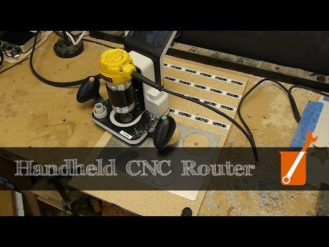 Handheld CNC router repairs old CNC machine